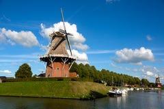 Molino de viento de Dokkum imágenes de archivo libres de regalías