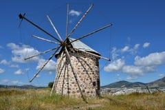 Molino de viento en Bodrum, Turquía fotografía de archivo libre de regalías