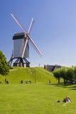 Molino de viento en Brujas Foto de archivo libre de regalías