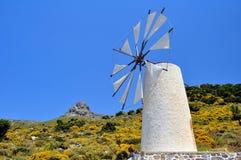 Molino de viento en Crete fotografía de archivo libre de regalías