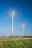 Molino de viento en el movimiento Foto de archivo libre de regalías