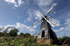 Molino de viento en el pantano de Wicken Fotografía de archivo libre de regalías
