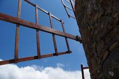 Molino de viento en Gran Canaria (¡s de San NicolÃ) Imagen de archivo libre de regalías