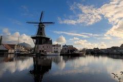 Molino de viento en Haarlem Fotografía de archivo
