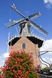Molino de viento en Haarlem, Holanda Fotos de archivo