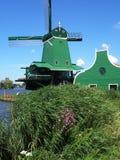 Molino de viento en Holanda en el museo Imagen de archivo