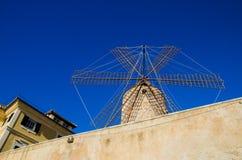 Molino de viento en Mallorca Palma de Mallorca, España Imagen de archivo