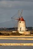 Molino de viento en Marsala Fotografía de archivo libre de regalías