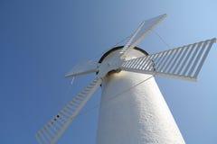 Molino de viento en Swinoujscie imagen de archivo libre de regalías