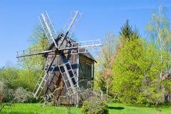 Molino de viento en un museo al aire libre Fotos de archivo libres de regalías