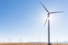 Molino de viento en Windfarm foto de archivo libre de regalías