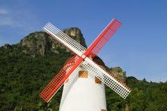 Molino de viento encantador de Tailandia Fotografía de archivo libre de regalías