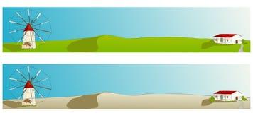 Molino de viento español - ilustración del vector de la bandera del Web ilustración del vector