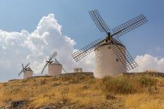 Molino de viento español típico Foto de archivo libre de regalías