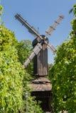 Molino de viento Estocolmo Suecia del parque de Skansen Imagen de archivo