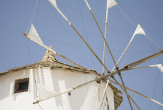 Molino de viento griego Fotografía de archivo libre de regalías