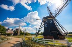 Molino de viento hermoso Imagenes de archivo