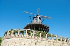 Molino de viento histórico foto de archivo