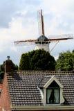 Molino de viento histórico, llamado De Hope Imagen de archivo libre de regalías