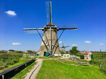 Molino de viento; Kinderdijk, Holanda fotografía de archivo libre de regalías