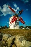 Molino de viento de Narbon en Bretaña fotos de archivo libres de regalías