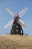 Molino de viento negro Imagen de archivo