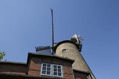 Molino de viento Ovenstaedt Petershagen, Alemania Fotografía de archivo libre de regalías