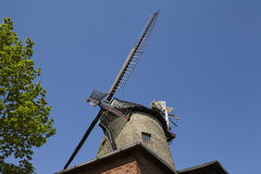 Molino de viento Ovenstaedt Petershagen, Alemania Fotografía de archivo
