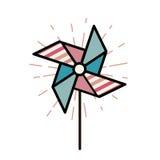Molino de viento para los niños Fotografía de archivo libre de regalías