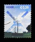 Molino de viento, para su serie de los posts, circa 2005 Imagenes de archivo