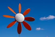 Molino de viento plástico de la flor Foto de archivo libre de regalías