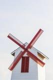 Molino de viento rojo Fotografía de archivo