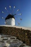 Molino de viento tradicional, Mykonos Fotos de archivo