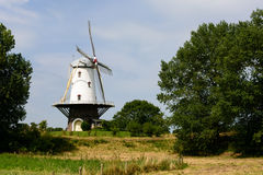 Molino de viento, Veere, Zelanda, Holanda Imagen de archivo libre de regalías