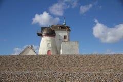 Molino de viento verde del fuerte Foto de archivo libre de regalías