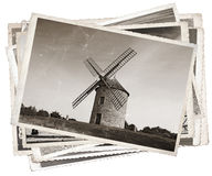 Molino de viento viejo de las fotos del vintage Imagen de archivo