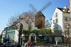 Molino de viento viejo en Montmartre París Francia Imagen de archivo libre de regalías