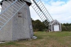 Molino de viento y herrero Imagenes de archivo