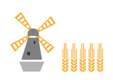 Molino de viento y oído Fotografía de archivo libre de regalías