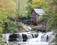 Molino del grano para moler en el parque de estado Babcock Imagen de archivo libre de regalías