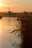 Molino del invierno Fotos de archivo