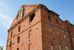 Molino destruido lucha de Stalingrad del panorama del museo fotografía de archivo