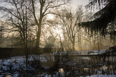 Molino en invierno imágenes de archivo libres de regalías