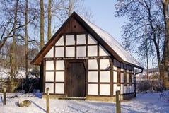 Molino en invierno, Hagen, Alemania de Gellenbecker imagen de archivo