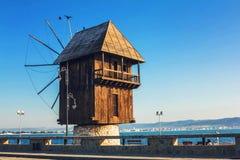 Molino en Nessebar, Bulgaria fotos de archivo