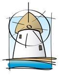 Molino griego de la isla Imagen de archivo