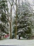Molino Pasillo en invierno Imagenes de archivo