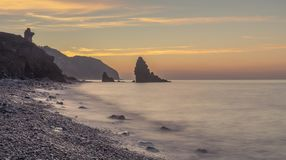 Molino strand, Spanien royaltyfri foto