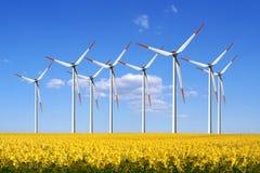 Molinoes de viento Fotos de archivo libres de regalías