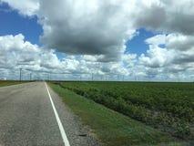 Molinoes de viento de Backroads fotos de archivo libres de regalías